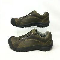 Keen Trail Hiking Walking Comfort Oxford Sneakers Shoes Leather Green Mens 8.5