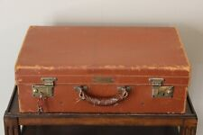 Abercrombie & Fitch Vintage Leather Travel Suitcase Luggage Made in England Key