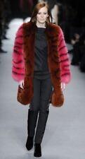 NWT TOM FORD Runway Fox Pink Brown Fur Coat EU 42 $30,000