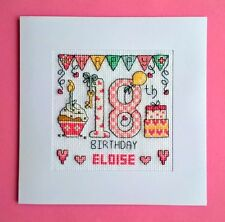 Happy 18th Birthday cross stitch card kit