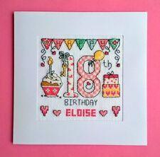Happy 18th Birthday cross stitch card kit