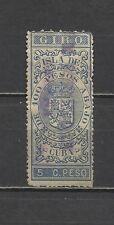 2449-SELLO FISCALES COLONIA ESPAÑA 1878 5 CENTAVOS