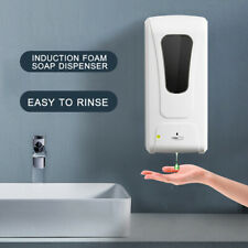 1000ML Wall-mounted Automatic Public Hand Cleaner Soap Shampoo Dispenser T4O6
