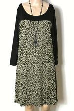 Lagenlook Kleid Stiefelkleid schwarz weiß New York Gr L  44