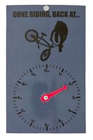 NEW NOVELTY CYCLE GIFT - GONE RIDING CLOCK FACE - BMX - CYCLE FREESTYLE