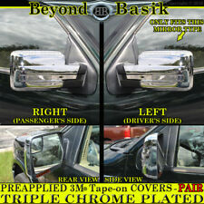 2009 2010 2011 2012 2013 2014 Ford F150 TRIPLE Chrome Mirror COVERS w/o Signal
