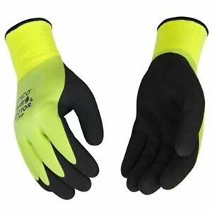 Kinco 1786P Waterproof Thermal Latex Gloves Green Winter Lined LG XL MD Medium