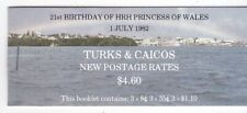 Turks & Caicos Islands 1982 Princess Diana 21st Birthday Full Booklet Scv $10.00
