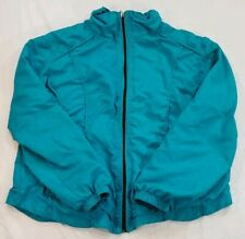 THREE HEARTS Teal Windbreaker Polyester Petite PXL