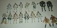 Kenner Star Wars CLONE WARS Troopers Army 16 Figure Lot Gree Cody