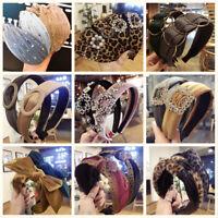 Damen Haarband Stirnband Schleife Haarreif Haarreifen Haar Hoop Knoten Headwrap
