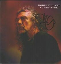 More details for robert plant   **hand signed**   carry fire cd   ~  autographed  ~  led zeppelin