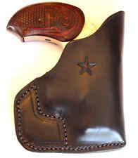 """Pocket holster for Bond Arms with 3 inch barrel... """"Defender"""" Black leather"""
