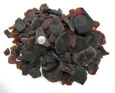6 Lb's highly frosted brown bottoms Mixed sizes frosted beach glass, aquariums