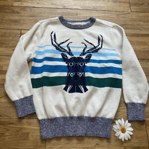 Cat & Jack Deer Sweater Size Small 6/7