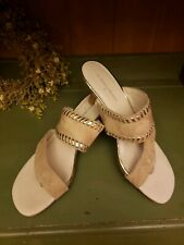 Donald J Pliner Ruge  Neutral with gold trim  Slip On Heels