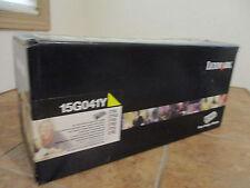 NEW LEXMARK 15G041Y OEM Genuine Yellow Toner Print Cartridge Sealed