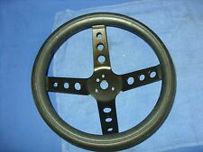"""Camaro Chevelle Nova Mustang 11 1/2"""" Cal Custom Black Steering Wheel"""
