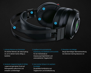 RAZER Nari Ultimate HyperSense Wireless/Wired Gaming Headset for PC & PS4*