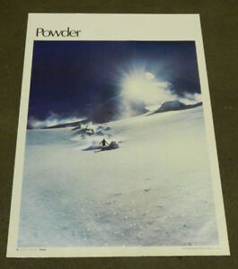 """1977 Sports Illustrated Poster Powder Measures 24"""" X 36"""""""