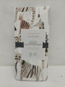 Pottery Barn: Jeremiah Brent, Jungle Animals,  Fitted Crib Sheet NEW in OPEN Bag