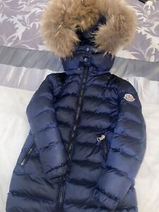 Girls Genuine Moncler Coat/jacket Age 4 Fur Hood