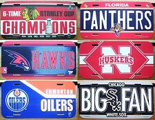 Set of 6 Sports Team Booster AMERICAN LICENSE NUMBER PLATES #6Sports