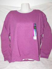 NWT Womens Hanes Premium Eco-Smart crew neck sweatshirt XXL VIVID VIOLA HEATHER