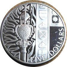 elf New Zealand 5 Dollars 2002 Silver Proof Scepter Diamond Queen's Jubilee
