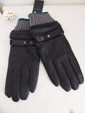 BNWT TED BAKER Black Deerskin & Sheepskin  Leather Gloves  size M/L