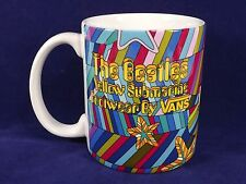 Vans Footwear Beatles Yellow Submarine Mug Cup Colors Stripes Coffee Tea Cocoa