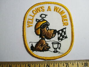 Yellow's A Winner Patch Snowmobiles NOS Vintage Original Sports Racing Skiing
