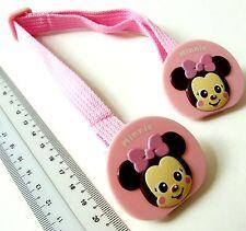 i221 Pink Infant Kids Disney MINNIE Towel Adjustable Strap Holder Clip  29-45cm