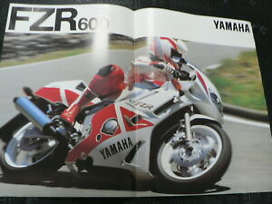 Y407 YAMAHA BROCHURE PROSPEKT FOLDER POSTER FZR 600 NOT 100 % OK IS DAMAGED