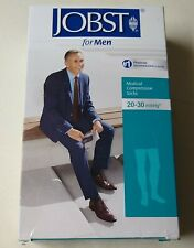 NEW! Jobst for Men Black Medical Compression Socks Thigh CT 20-30 mmHg Large NIB
