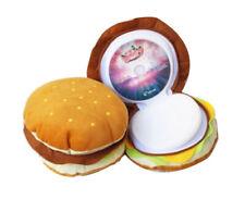 Cute Hamburger Plush CD Case Holder Car Storage Bag for 20Pcs CD/DVD