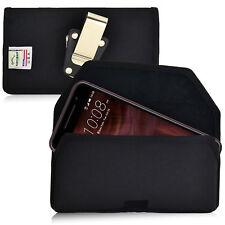 New HTC One A9 Belt Case Turtleback Black Nylon Holster Pouch Belt Clip