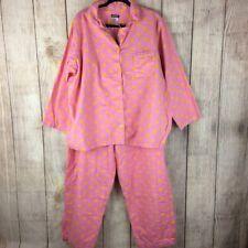 Joe Boxer Smiley Pink Flannel Pajama Set Sz 2x