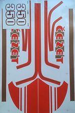 JAWA CZ 350 STICKER SET CEZET STICKER SET IN RED