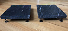 """New listing 7.5""""x 10""""x 3/4"""" Stone isolation platforms with spikes for Vienna Acoustics Bach"""
