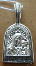 PLATA 282m Colgante Madre Dios KAZAN Consecrated the Relics St George S