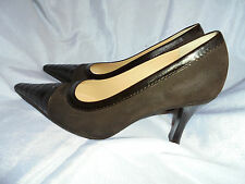 CHANEL WOMEN'S BROWN/SUEDE LEATHER SLIP ON DETAIL SHOE SIZE UK 5.5 EU 38.5 VGC