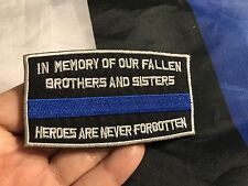 THIN BLUE LINE In Memory Of Fallen Brothers Tactical Police Law ACU Hero Patch
