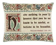 William Morris Quote Tapestry Cushion 49cm x 38cm