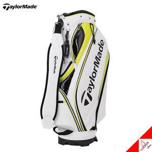 """TaylorMade 2020 MULTI LAYERED Men's Golf Caddie Bag Cart 9.5"""" 5Way 7.5lb White"""