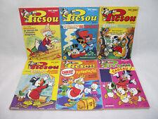 Lot de 6 PICSOU MAGAZINE N°58 75 77 101 113 & 118 1976-1981 Walt Disney livres