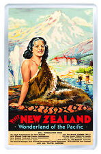 VISIT NEW ZEALAND VINTAGE REPRO FRIDGE MAGNET SOUVENIR IMAN NEVERA