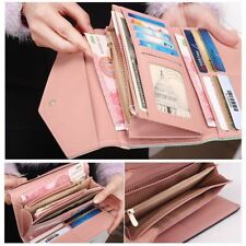 Womens Leather Envelope Clutch Wallet Fashion Long Phone Holder Purse Handbag US
