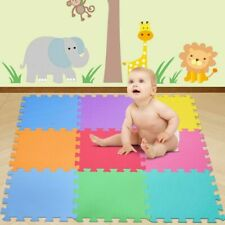 Tappetino Tappeto Puzzle Maxi lettere Colorati Gioco Bambino 9pz 30x30 cm Gomma