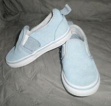 VGUC Vans Toddler Girl Hearts Slip-on V (Blue Fog/True White) 8T